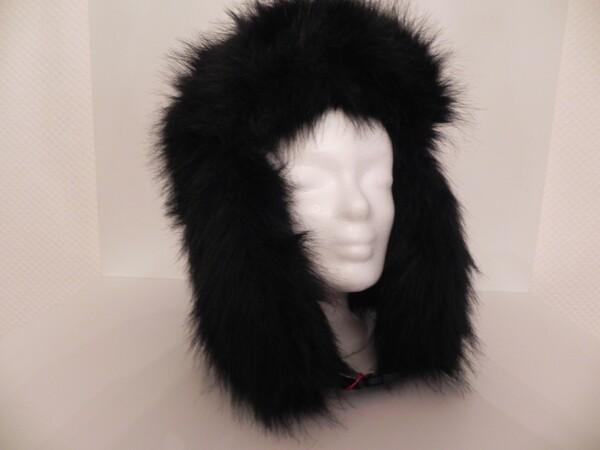Faux Fur Hat Black | Iris Berghoff