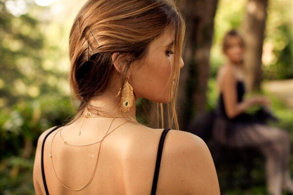 Individual Earring Peacock XL Gold | HLC Jewellery