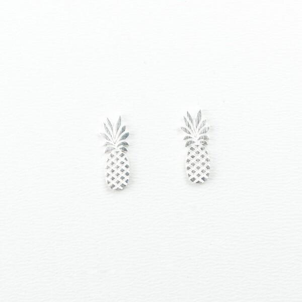 Earrings with pineapple motif silver plated   Perlenmarkt