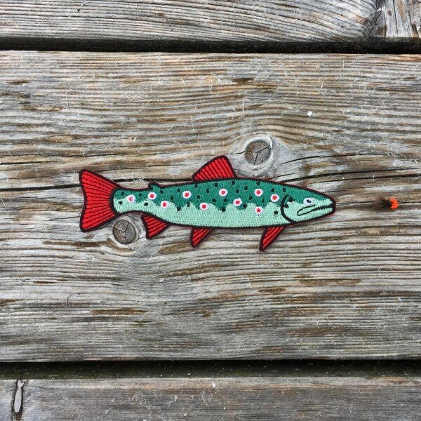 Trout Patch - Iron-On Patch | ESCA