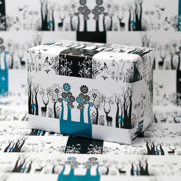 Wrapping paper set of 4 unicorn forest | ESCA