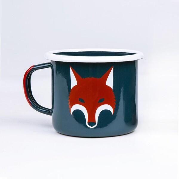 Fox enamel mug   ESCA