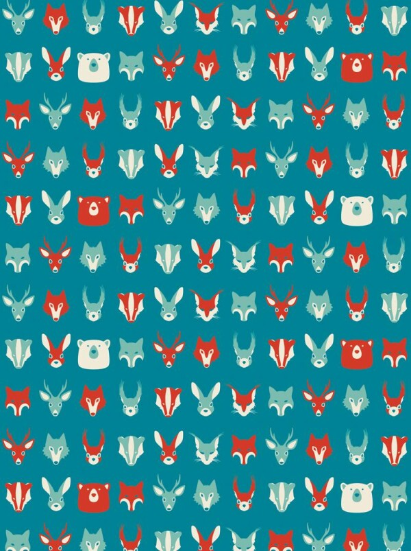 Wrapping paper set of 3 forest animals | ESCA