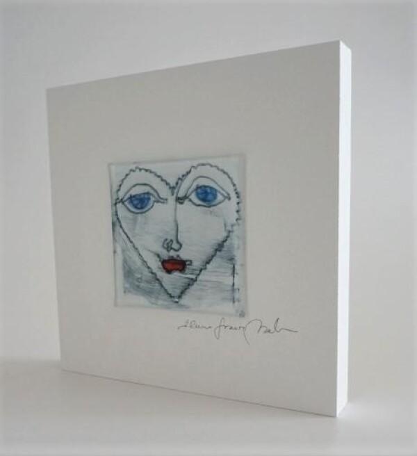 GlasBild Face 15x15 white | Design Elena