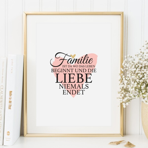 Tales by Jen Art Print: Family is where life begins and love never ends | Tales by Jen