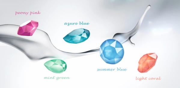 Artjany earring denim blue rose gold | artjany - Kunstjuwelen