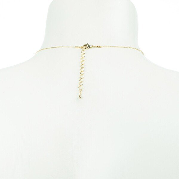 Short necklace with spring motif gold plated | Perlenmarkt