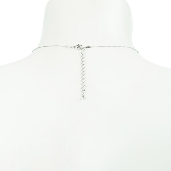 Short necklace with spring motive silver plated   Perlenmarkt