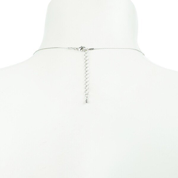Short necklace with black crystal pendants silver plated | Perlenmarkt