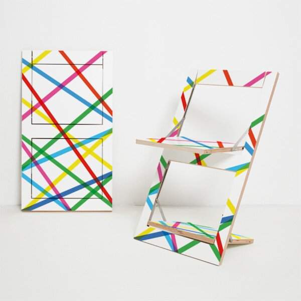 Folding chair Fläpps - Colorful lines | AMBIVALENZ