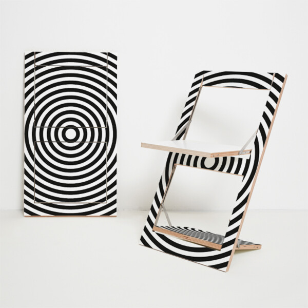 Folding chair Fläpps - Op-Art circle | AMBIVALENZ