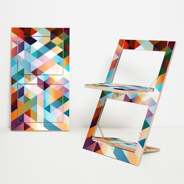 Folding chair Fläpps - Criss Cross Rot | AMBIVALENZ