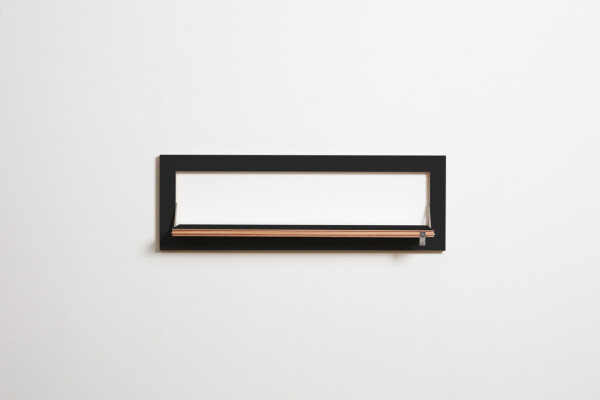 Fläpps shelf 80x27x1 - black | AMBIVALENZ