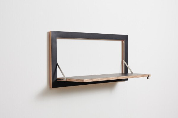 Fläpps shelf - 80x40x1 - black | AMBIVALENZ