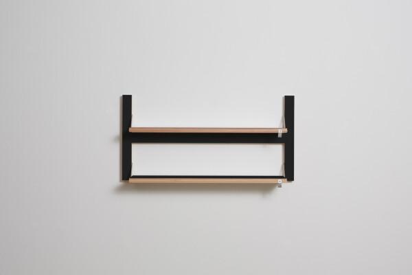 Fläpps shelf 80x40x2 - black | AMBIVALENZ