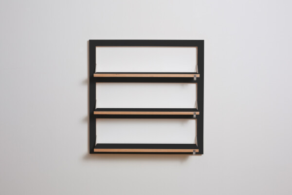 Fläpps shelf 80x80x3 - black | AMBIVALENZ