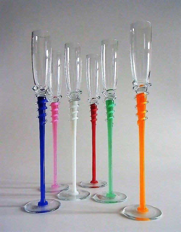 Champagne glasses Fontena set 6 | Design Elena
