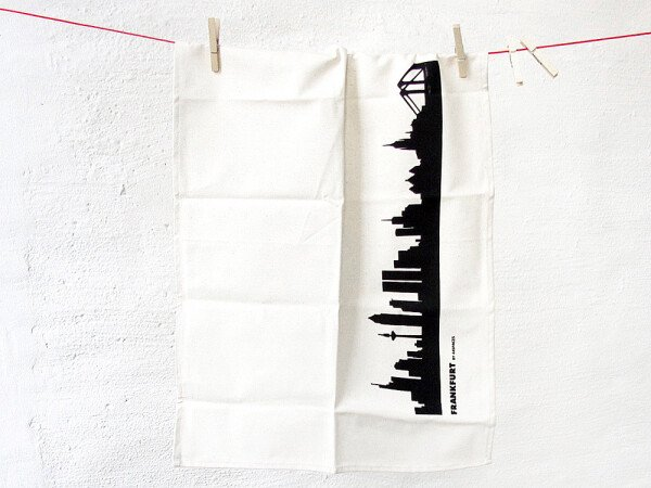 Frankfurt Skyline Tea Towel Set of 3 - Fair Trade - Handprint | 44spaces