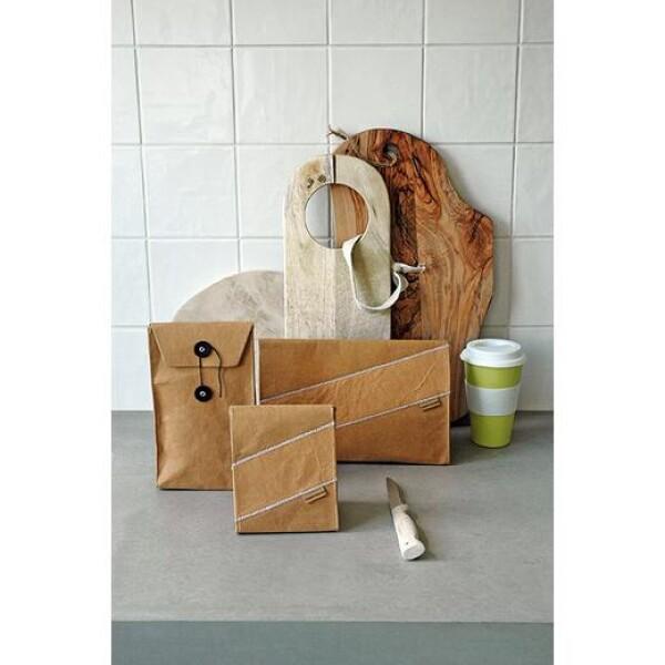 Brown fashionable lunch bag Kraft | das goodshaus