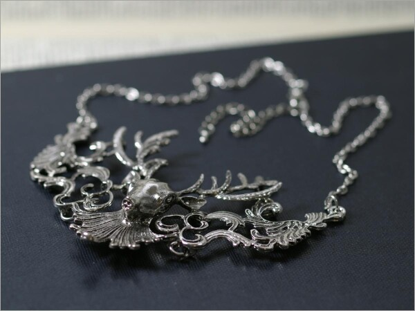 Great deer necklace antique silver   Carol and Me