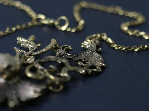 Deer necklace antique gold colors | Carol and Me