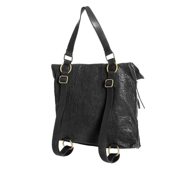 Black Leather Convertible Backpack Berlin | JUAN-JO gallery
