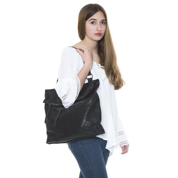 Black Leather Convertible Backpack Berlin   JUAN-JO gallery