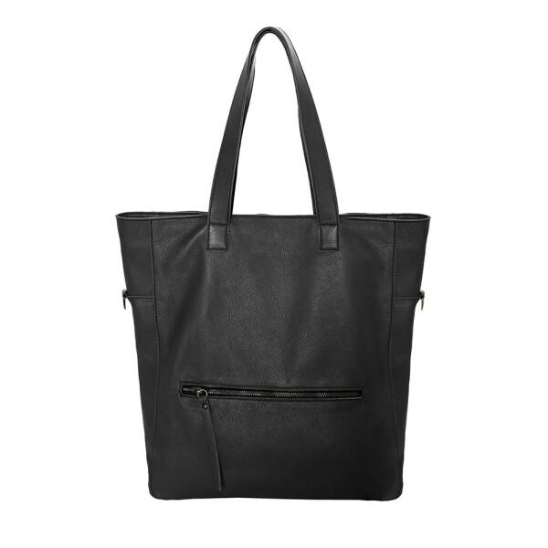 black leather tote bag Napoli | JUAN-JO gallery