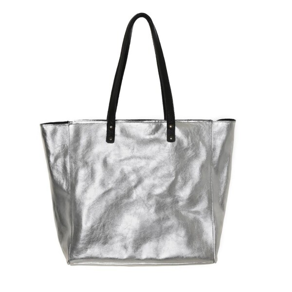 Silver Leather Tote Bag   JUAN-JO gallery