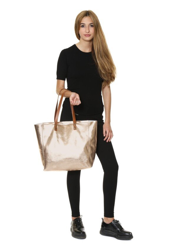 rose gold leather tote BARCELONA | JUAN-JO gallery