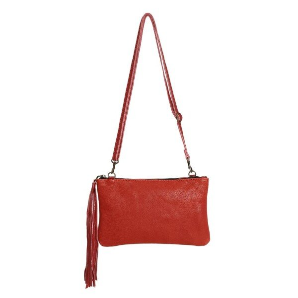 Small Red Leather Handbag Carolina | JUAN-JO gallery