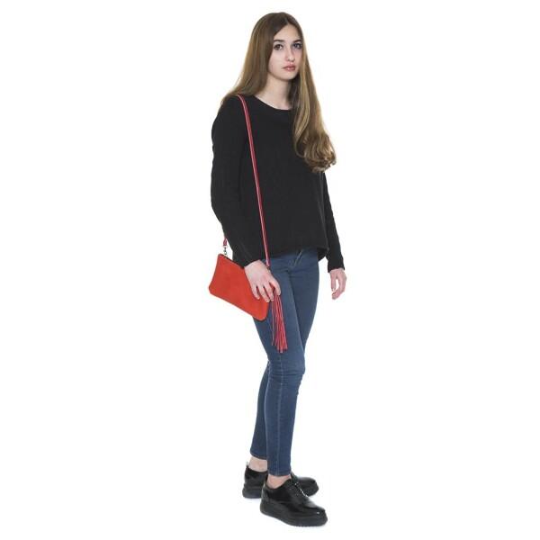 Small Red Leather Handbag Carolina   JUAN-JO gallery