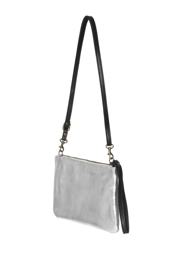 Silver Leather Clutch and Carolina Crossbody   JUAN-JO gallery