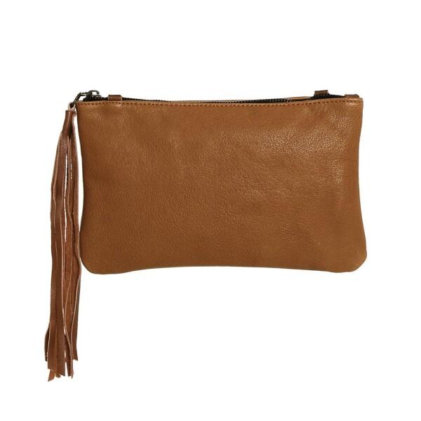 Light Brown Leather Handbag Carolina | JUAN-JO gallery