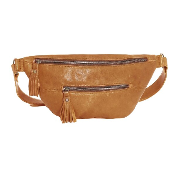 Light Brown Leather Belt Bag- Fanny Pack  Rihanna | JUAN-JO gallery