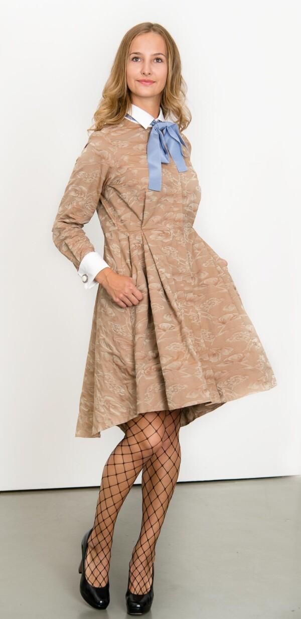 Camel hair dyeing dress | L - GABRIELLE