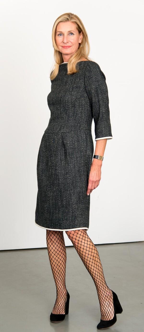 Elegant dress with attached skirt part | L - GABRIELLE