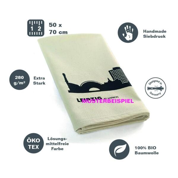 Fair trade tea towel with MUNICH skyline | 44spaces