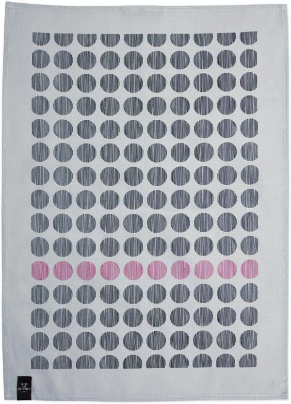 Tea towel by KISS MY KITCHEN - dots gray / pink   buchenblau®