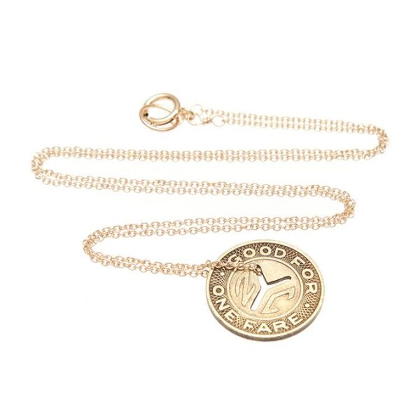Subway Tokens Vintage NYC Necklace Gold | KTcollection