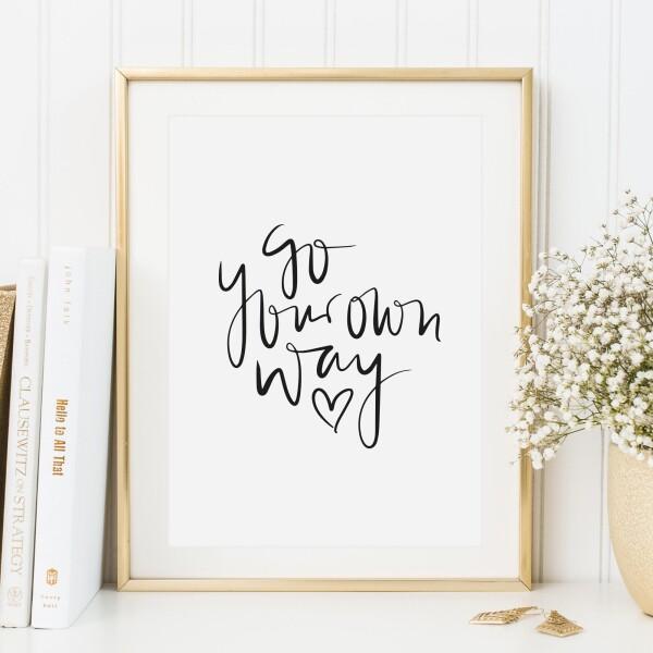 Tales by Jen Art Print: Go your own way | Tales by Jen