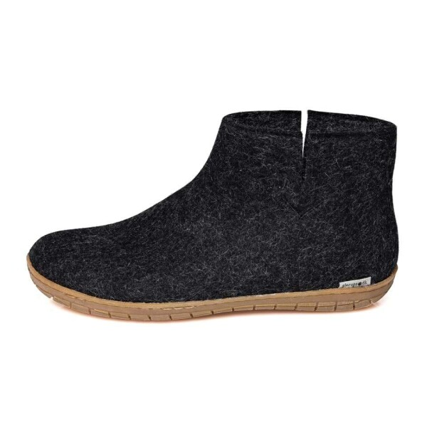 Glerups slippers The Boot rubber sole charcoal   Tausendschön