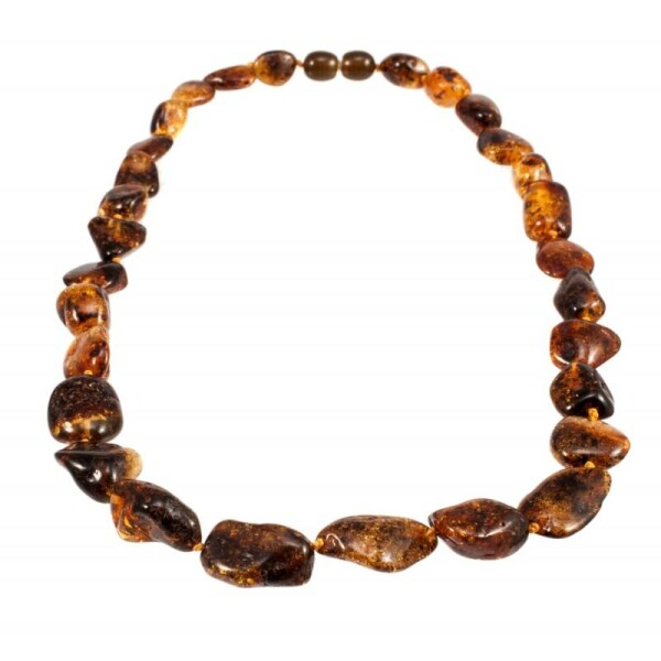 Green amber necklace | BalticBuy