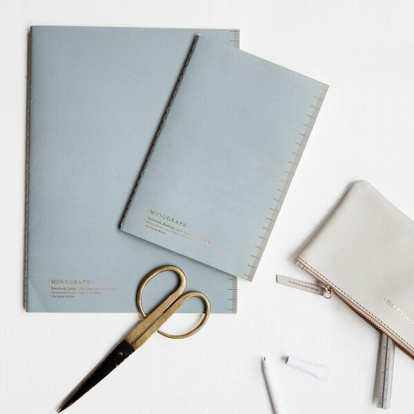 Monograph Gray Large Notebook | Papperlapapp