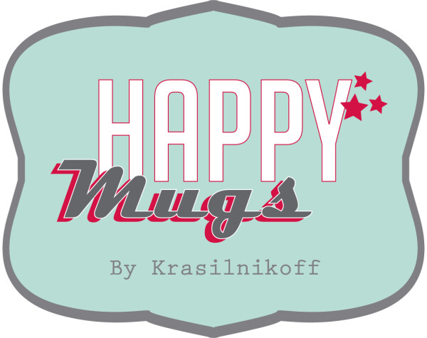 Becher Mug LET'S BE MERRY AND LUCKY Krasilnikoff | WohnGlanzVilla