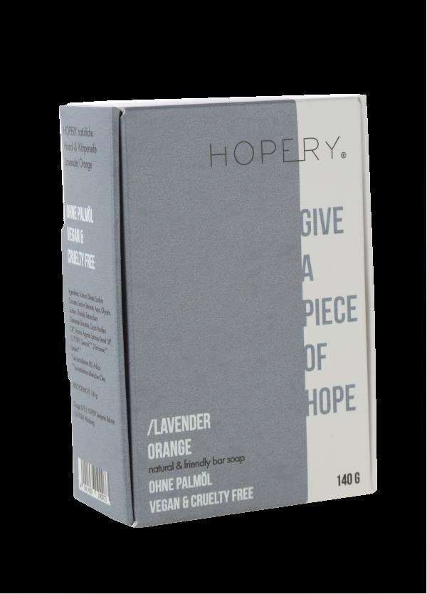 Palm oil-free soap from Hopery Lavender / Orange | Herzberg