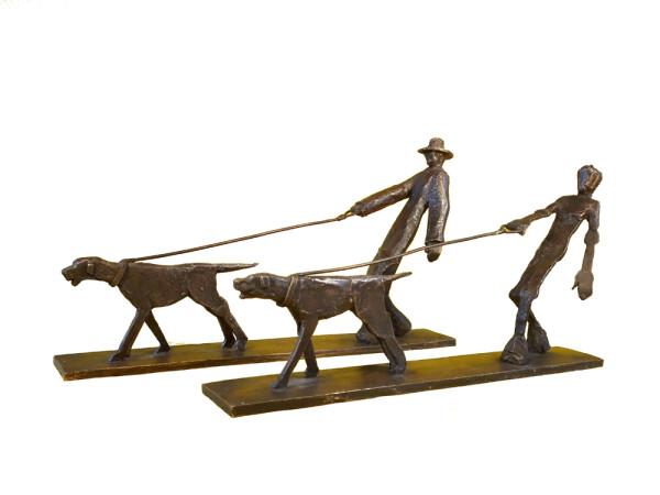 Gustav Duden - dog owner sculpture | HS Kunst-Galerie