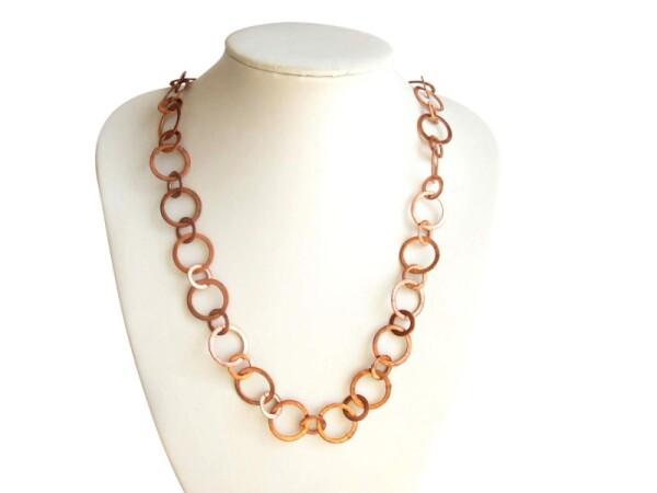Necklace Rose Gold Plated LOOPS 90 cm | Gemshine Schmuck