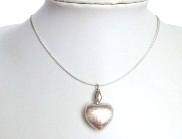 Heart Necklace Pendant 925 Silver 45 cm   Gemshine Schmuck
