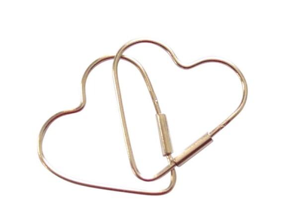 Heart earrings 925 sterling silver 2 cm   Gemshine Schmuck